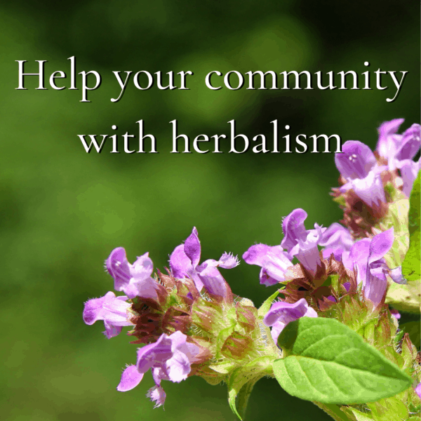 help your community with herbalism